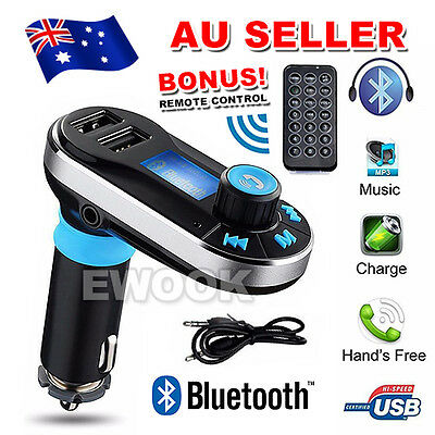 Wireless Bluetooth LCD MP3 Player FM Transmitter Handsfree Car Kit USB/SD AU