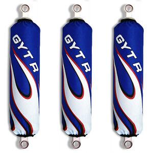 Blue-Flame-Shock-Covers-Yamaha-Raptor-YFM-700-R-Set-of-3-New