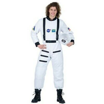 Astronaut Costume Adult Wht Zip Front Padded Space Shuttle Commander Costume L/X ()