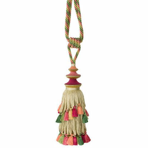 Brunschwig Fils Pagoda Soie Silk Color Bloom Curtain Tieback MSRP $570