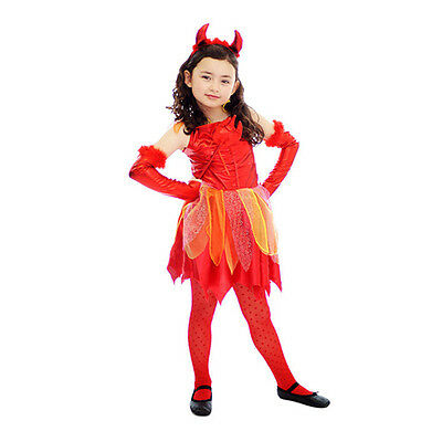 Clearance Halloween Costumes For Girls (CLEARANCE Girls Devil Halloween Fancy Dress Costume M/L)