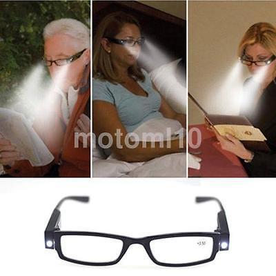 LED Reading Glasses Light Up Plastic Frame Magnifier Mens Ladies Eyeglasses US](Light Up Eyeglasses)