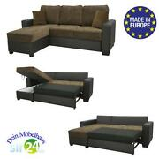 eckcouch mit schlaffunktion g nstig online kaufen bei ebay. Black Bedroom Furniture Sets. Home Design Ideas