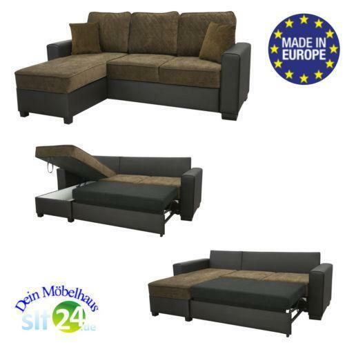 ecksofa mit schlaffunktion g nstig online kaufen bei ebay. Black Bedroom Furniture Sets. Home Design Ideas