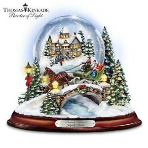 thomas kinkade christmas snow globe - Large Christmas Snow Globes