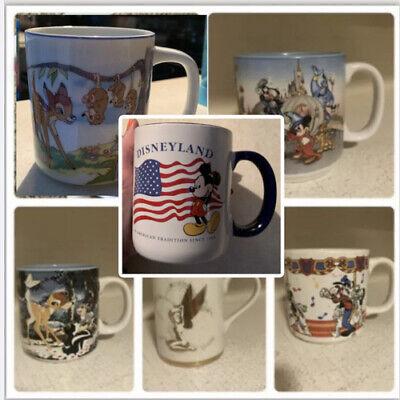 Vintage Disney Mug 25th Anniversary Bambi Tinker Bell Mickey Donald Music Box
