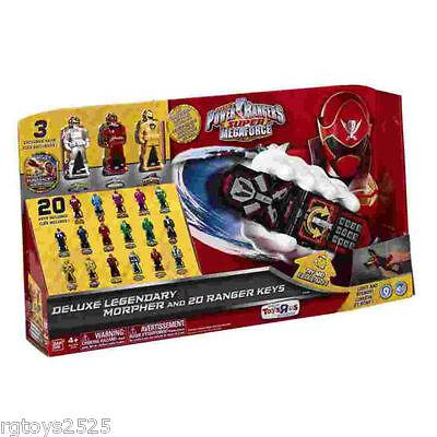 Power Rangers Deluxe Morpher & 20 Legendary Ranger Keys super Megaforce 2013 New (Power Rangers 20)