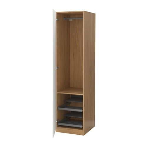 mirror door pax ikea single wardrobe oak colour narrow