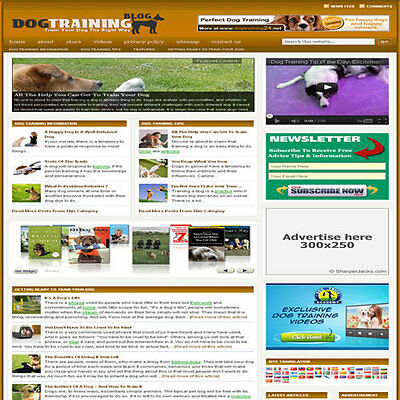 Established Dog Training Affiliate Website Turnkey Business Free Hosting