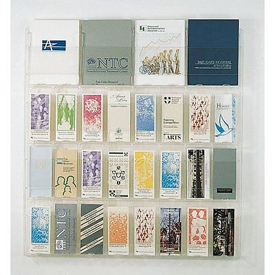 Wall Mount 28 Pocket Combination Magazine and 4x9 Brochure Display (Pocket Wall Mounted Pamphlet Display)