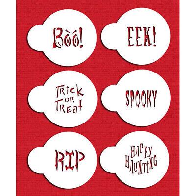 Spooky Halloween Cookies (Designer Stencils Spooky Halloween Saying Stencil Set | Cake |)