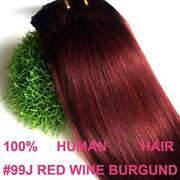 Burgundy Clip in Hair Extensions