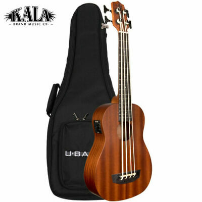 Kala U-BASS Wanderer Acoustic Electric Mahogany Satin Finish with Gig Bag