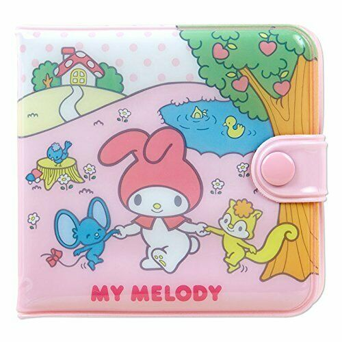 New Sanrio My Melody Pink Small Wallet Square Vinyl Purse Money Case