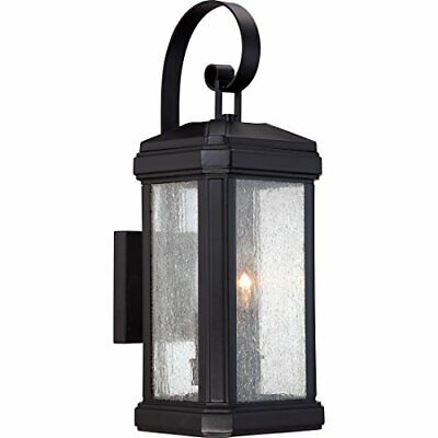 Quoizel TML8407K Two-Light Outdoor Wall Lantern Fixture, Black Finish