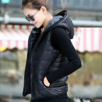 """NEW hooded padded vest Black, fit S to M chest 36-37""""+ free hats"""