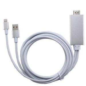 Weekly Promo! 6 FEET IPHONE/IPAD LIGHTNING TO HDMI HDTV CABLE PLUG&PLAY $29.99(was$39.99)