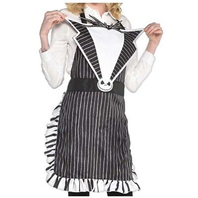 NIGHTMARE BEFORE CHRISTMAS DELUXE ADULT APRON ~ Halloween Supplies Jack Costume