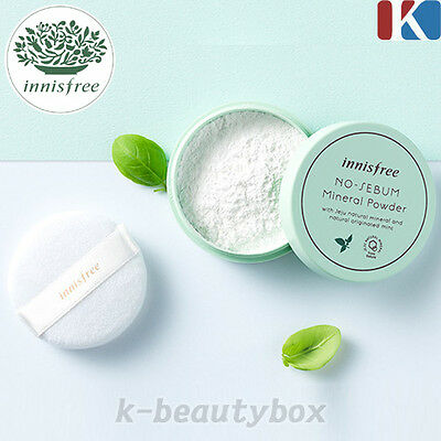 INNISFREE No Sebum Mineral Powder 5g / Control Oil Face Powder Soft fine powder