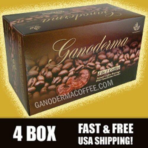 Ganoderma 4 in 1 Coffee w/ creamer - 4 box (80 ct) - Free Shipping!