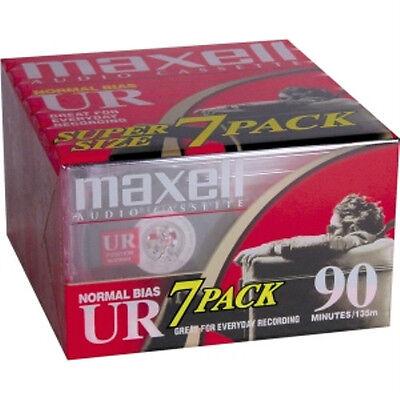 Купить Maxell UR-90 Blank Audio Cassette Tape 7 Pack Maxell UR90 108575