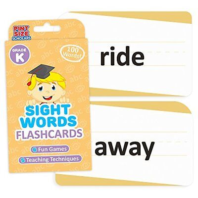 Sight Words Flashcards for Reading Readiness, 100 Kindergarten Words