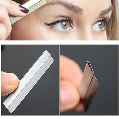 10pcs Stainless Steel Eyebrow Razor Microblading Brow ...