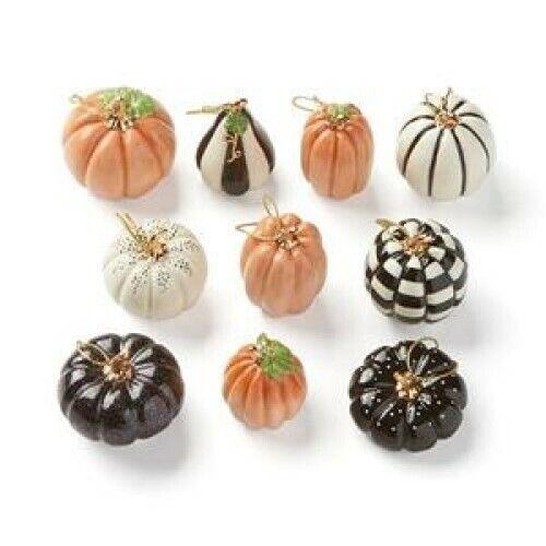 LENOX  PUMPKINS  Set of 10 Miniature Ornaments for Tree Fall Autumn  Halloween