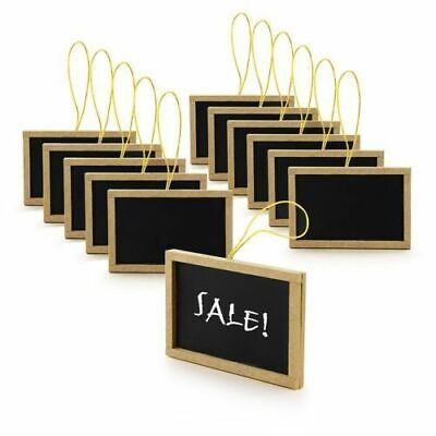 12pk Rectangle Black Mini Chalkboard Wedding Table Numbers DIY Food Service Sign](Diy Wedding Table Numbers)