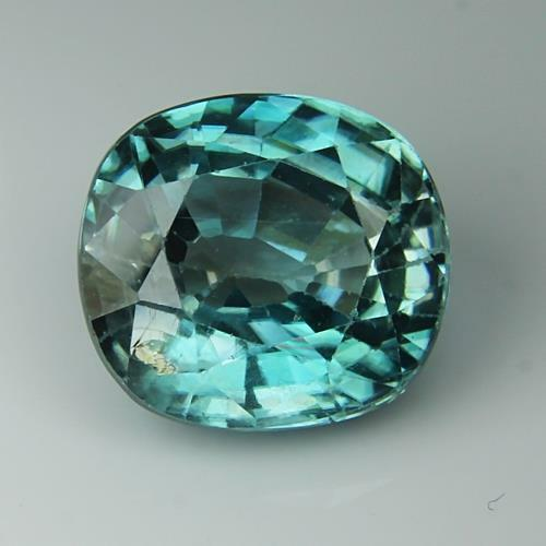 3.85 Cts Natural Blue Zircon Cambodia Oval Shape Loose Gemstone Free Shipping