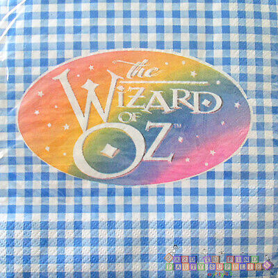 Magician Birthday Party Supplies (WIZARD OF OZ LUNCH NAPKINS (16) ~ Birthday Party Supplies Blue Dorothy)
