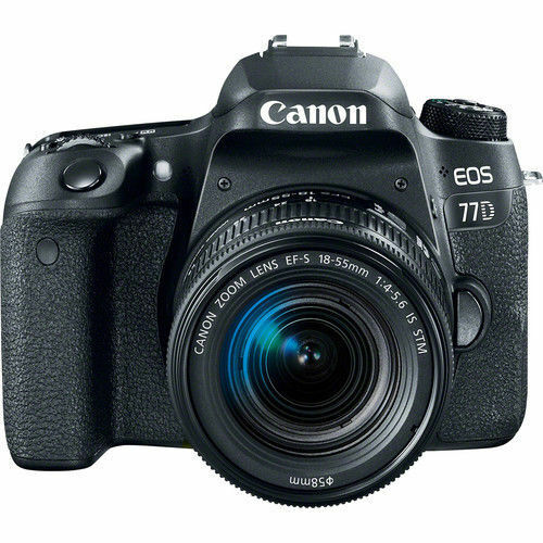 Canon EOS 77D DSLR Camera with EF-S 18-55mm IS STM Lens Black 1892C016