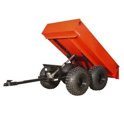 TRAILER - OFF ROAD - 1,600 Lb - 12VDC -  Electric Brakes - Dump - Red Lights