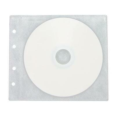 100 CD/DVD Double-sided 2 Discs Refill Plastic Sleeve White Double Sided White Refill Sleeve