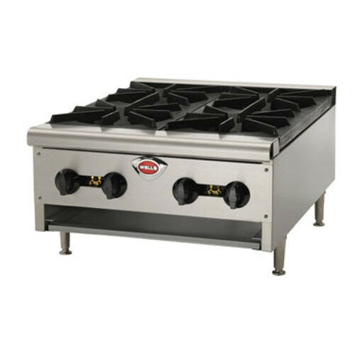 Wells Hdhp-3630g 6 Burner Natural Gas Countertop Hot Plate
