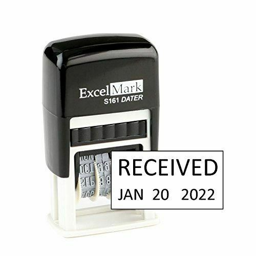 NEW ExcelMark RECEIVED Self Inking Date Stamp S161 | Compact Size Black Ink