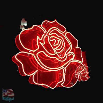 """Custom Rose Neon Sign 24""""x24"""" From USA"""