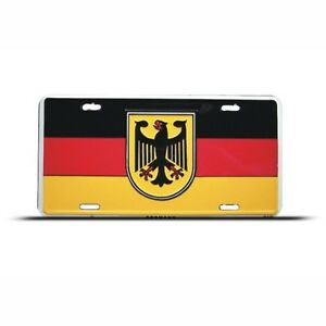 GERMANY-GERMAN-FLAG-METAL-LICENSE-PLATE-WALL-SIGN-TAG