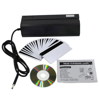 Upgraded Msr606 Msr606i Magnetic Credit Card Reader Writer Encoder 3-track