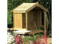 Cottage arbour enclosed 3 seater