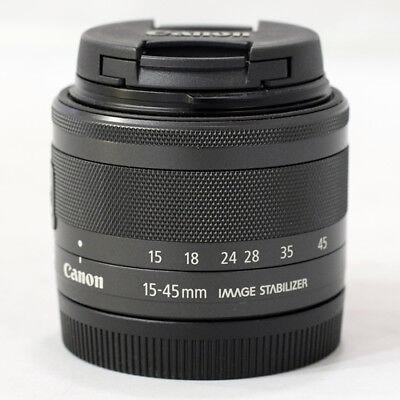 Canon EF-M 15-45mm F/3.5-6.3 IS STM Lens - Black (Bulk Package)