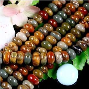 5X8MM Multi-color Picasso Jasper Gems loose beads 15