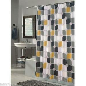 Black Gold Shower Curtain