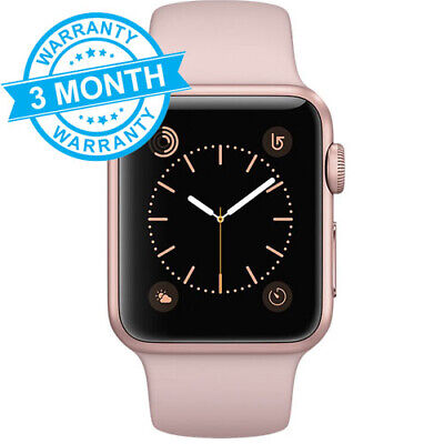 Apple Watch Series 1 - Rose Gold Aluminium Pink Sports Band, 38mm GPS WARRANTY
