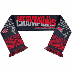New England Patriots Super Bowl LI 51 Champions Scarf   FOREVER COLLECTIBLES