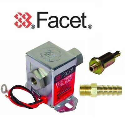FACET 40289 Bomba Eléctrica Combustible Incluye Cuadros Válvula 4.5 -7 Psi +