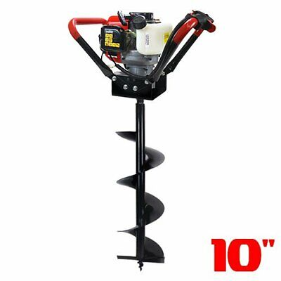 2 Stroke 55cc Gas Post Hole Digger 1-man Epa Auger Digger With 10 Inch Bit