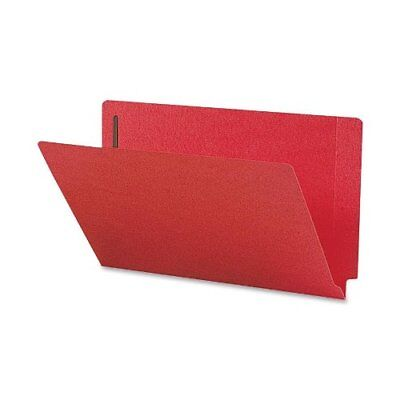 Smead 28740 Red End Tab Colored Fastener File Folders With Reinforced Smd28740