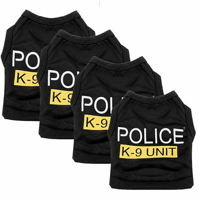 Small Puppy Costumes (Small Dog Cat Vest Police Puppy T-Shirt Coat Pet Clothes Summer Apparel)