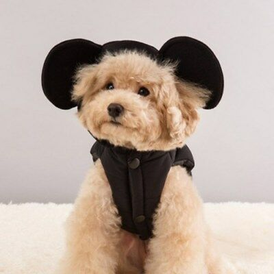 Disney Mickey Mouse Pet Puppy Dog Cat Padding Hoody Clothes Made In Korea
